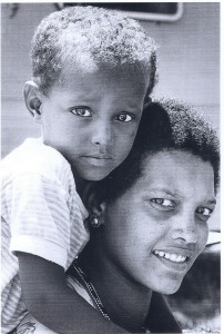 ethiopian jewish mother and child