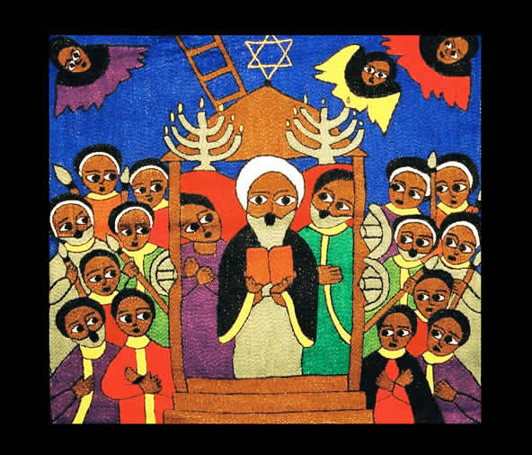 Village Synagogue-Ethiopian Embroidery